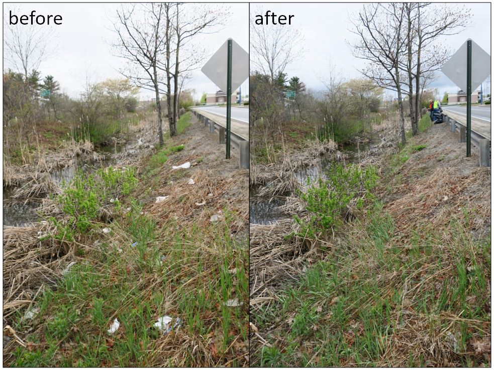 before after of trash cleanup Hydro International