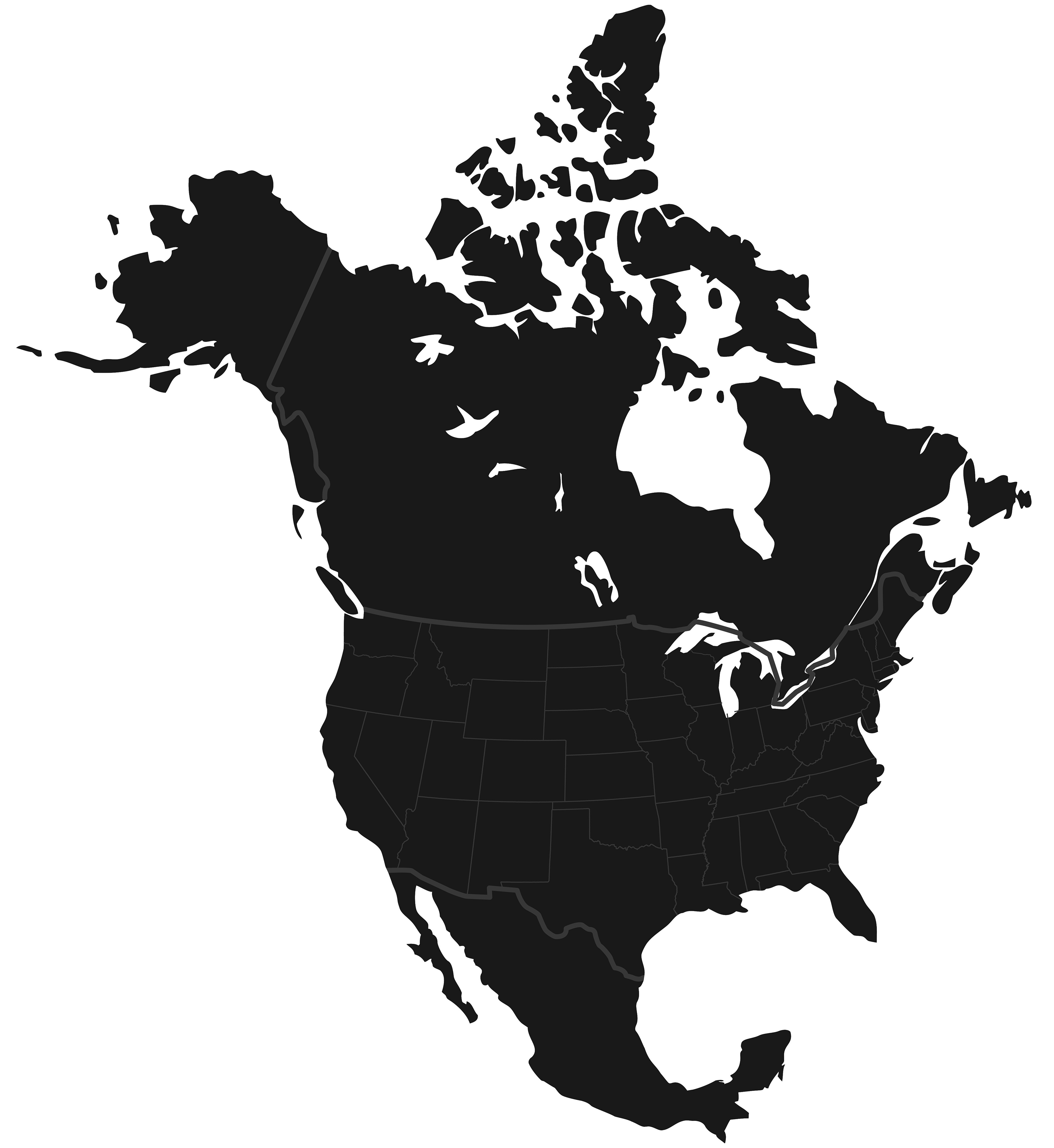 Regional Sales Manager Map - North America
