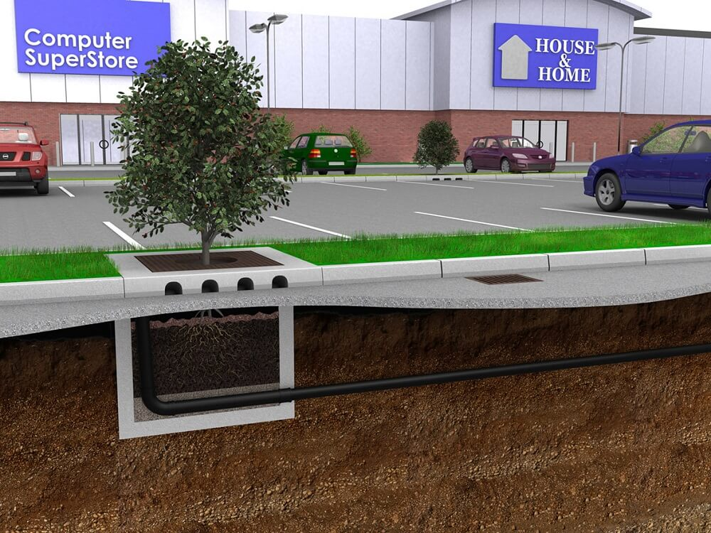 Hydro Biofilter™ is a high-amenity SuDS water management system