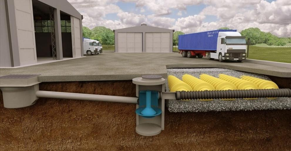 Downstream Defender® provides effective stormwater treatment for industrial and commercial sites