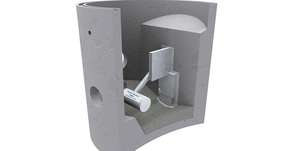 The Hydro-Brake Agile flow control can be supplied pre-fitted in a concrete drainage chamber