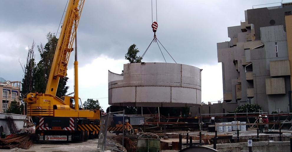A Storm King® separator being installed