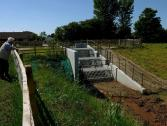 The outlet grate of the Hydro-Brake® Flood flow control installed at Turker Beck in Northallerton